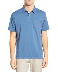 Vineyard Vines - Blue Cotton Jersey Polo for Men - Lyst