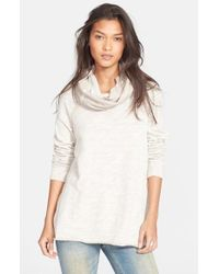 Free People | Natural 'beach Cocoon' Cowl Neck Pullover | Lyst