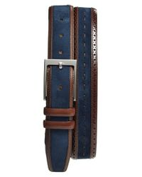 Mezlan | Blue Suede Belt for Men | Lyst