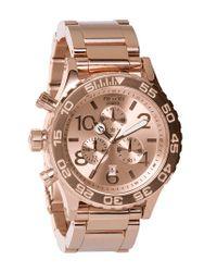 Nixon | Pink 'the 42-20 Chrono' Watch | Lyst