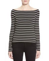 Bailey 44 | Black 'jacqueline' Stripe Top | Lyst