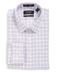 Nordstrom - Blue Smartcare Trim Fit Check Dress Shirt for Men - Lyst