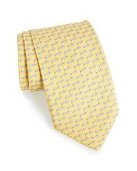 Ferragamo - Yellow Golf Print Silk Tie for Men - Lyst