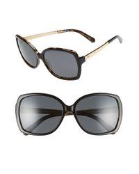 kate spade new york - Black 'darilynn' 58mm Polarized Sunglasses - Lyst