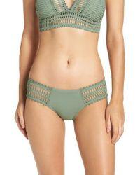 Robin Piccone | Green 'sophia' Crochet Bikini Bottoms | Lyst