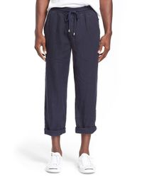 Vilebrequin - Blue 'pacha' Linen Pants for Men - Lyst