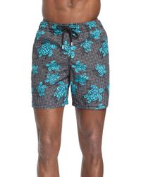 Vilebrequin | Black 'moorea' Turtle Print Swim Trunks for Men | Lyst