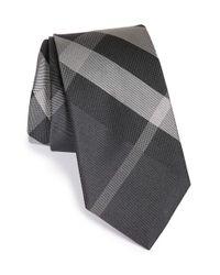 Burberry | Blue Manston Check Silk Tie for Men | Lyst