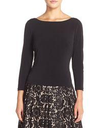 Eliza J | Black Knit V-back Top | Lyst