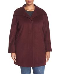 Ellen Tracy | Purple Wool Blend A-line Coat | Lyst