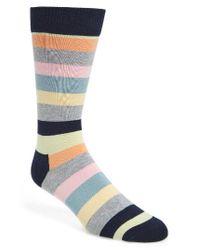 Happy Socks | Blue Stripe Socks for Men | Lyst