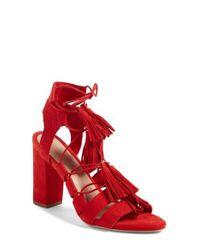 Loeffler Randall | Red Luz Tassel Sandal | Lyst