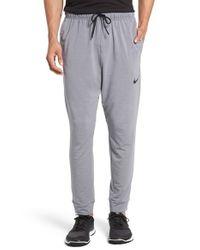 Nike   Gray Dri-fit Fleece Training Pants for Men   Lyst