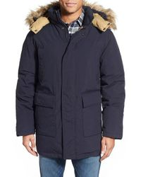 Schott Nyc | Black 'iceberg' Water Resistant Down Parka With Faux Fur Trim for Men | Lyst