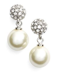 Givenchy | Metallic Fireball Imitation Pearl Drop Earrings | Lyst