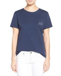 Vineyard Vines | Blue Whale Graphic Short Sleeve Pocket Tee | Lyst