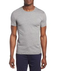 Paul Smith - Gray Crewneck Cotton T-shirt for Men - Lyst
