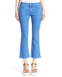 Stella McCartney   Blue 'skinny Kick' Crop Jeans   Lyst