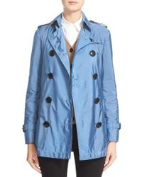 Burberry Brit | Blue 'kerringdale' Belted Trench Coat | Lyst