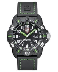 Luminox | Black 'coronado' Rubber Strap Watch for Men | Lyst