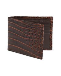 Torino Leather Company | Brown 'nile' Genuine Crocodile Leather Billfold Wallet for Men | Lyst