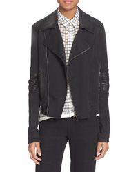 Superfine - Black 'Guerilla' Denim Moto Jacket - Lyst