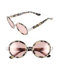 Retrosuperfuture - Brown Super By Retrosuperfuture 'santa Gel' 52mm Round Sunglasses - Lyst