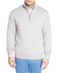 Bobby Jones   Gray Windproof Merino Wool Quarter Zip Sweater for Men   Lyst
