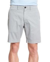 Billy Reid - Gray 'wynn' Pima Cotton & Linen Shorts for Men - Lyst