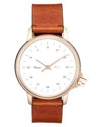 Miansai - Brown 'm12' Leather Strap Watch - Lyst