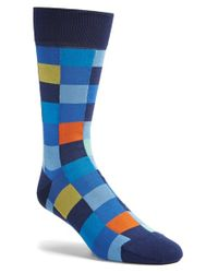 Bugatchi | Black 'blocks' Socks for Men | Lyst