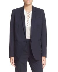 The Kooples - Blue Timeless Stretch-Wool Jacket - Lyst