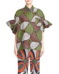 Junya Watanabe - Brown Print Lawn Shirt - Lyst