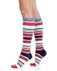 VIM & VIGR - Multicolor 'fun Stripe' Graduated Compression Trouser Socks - Lyst