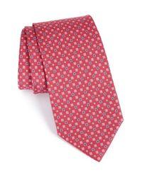 Ferragamo | Pink Geometric Silk Tie for Men | Lyst