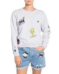 Paul & Joe - White 'so Funny' Crewneck Cotton Sweatshirt - Lyst