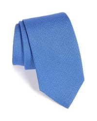 Eton of Sweden | Blue Solid Silk Tie for Men | Lyst