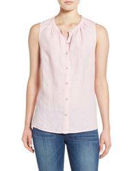 Tommy Bahama - Pink 'sunset Chambray' Sleeveless Shirt - Lyst