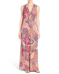 Tommy Bahama - Multicolor 'carnival Lights' Print V-neck Maxi Dress - Lyst