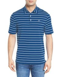 Vineyard Vines | Blue Stripe Jersey Golf Polo for Men | Lyst