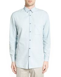 Zanerobe - Blue 'seven Ft' Longline Woven Shirt for Men - Lyst