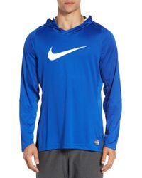 Nike | Blue 'dry Elite' Hooded Basketball Top for Men | Lyst