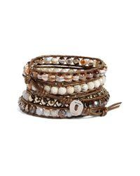 Chan Luu   Metallic Semiprecious Stone Wrap Bracelet   Lyst