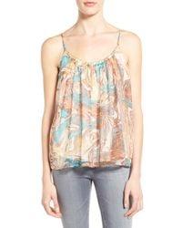 Ella Moss   Natural Print Silk Camisole   Lyst
