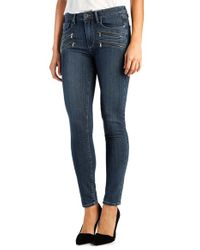 PAIGE - Blue 'transcend - Edgemont' High Rise Ultra Skinny Jeans - Lyst