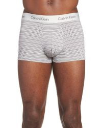 Calvin Klein - Gray Stripe Trunks for Men - Lyst