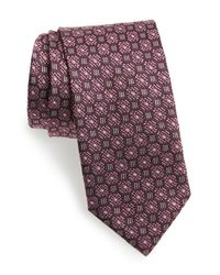 Brioni - Purple Medallion Silk Tie for Men - Lyst