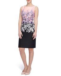 Tahari - Multicolor Print Scuba Sheath Dress - Lyst
