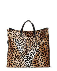 Clare V. | Multicolor Genuine Calf Hair Cheetah Print Tote | Lyst