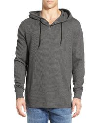 Volcom | Gray 'murphy' Thermal Hoodie for Men | Lyst